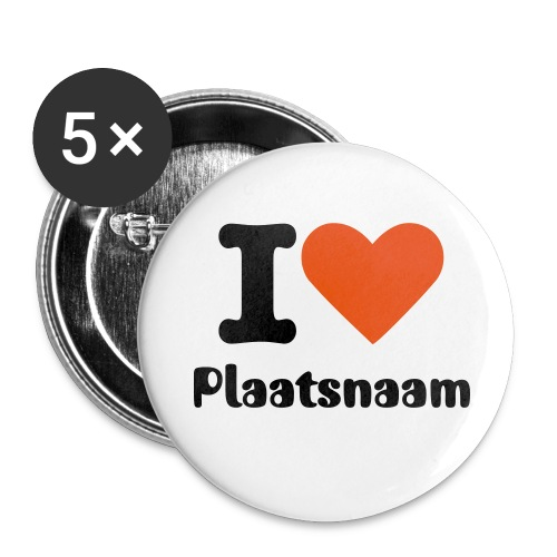 BUTTONS: I love Tilburg - Buttons groot 56 mm (5-pack)