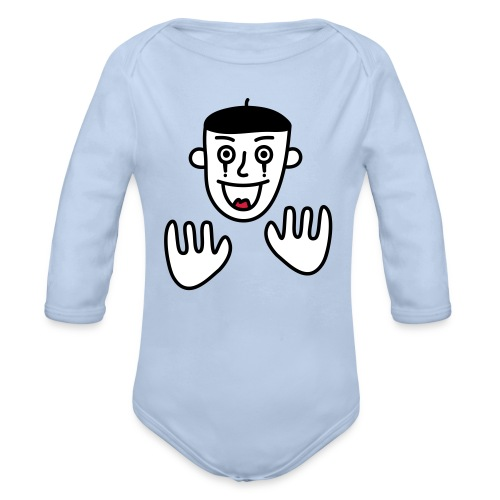 Say nothing, Mr Mime! - Organic Longsleeve Baby Bodysuit