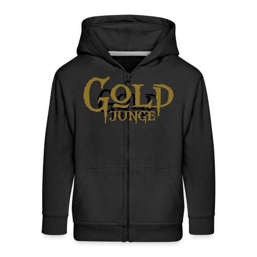 Goldjunge - Kinder Premium Kapuzenjacke