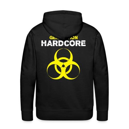 generation hardcore - Sweat-shirt à capuche Premium pour hommes