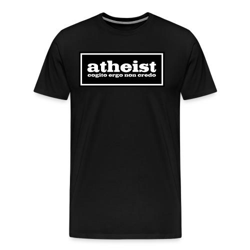 atheist - cogito ergo non credo - Men's Premium T-Shirt