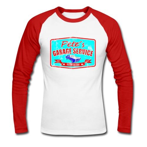 Pete´s Garage - Männer Baseballshirt langarm
