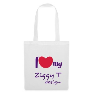 I Heart My Ziggy T Design Bag For Life (White) - Tote Bag