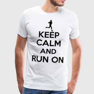 Keep calm and run on Magliette - Maglietta Premium da uomo