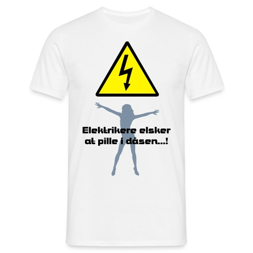 Elektrikere elsker at pille i dåsen - Herre-T-shirt