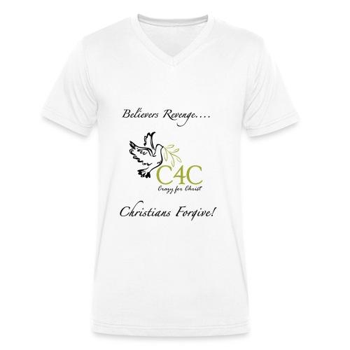 Christians Forgive - Männer Bio-T-Shirt mit V-Ausschnitt von Stanley & Stella