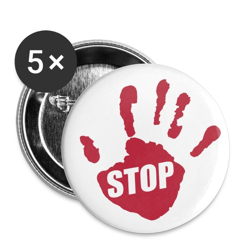 Stop - Buttons klein 25 mm (5er Pack)