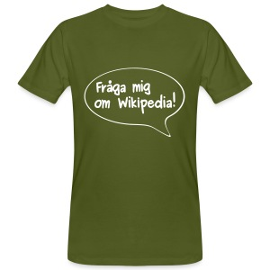 Fråga mig 2-sidig - Ekologisk T-shirt herr