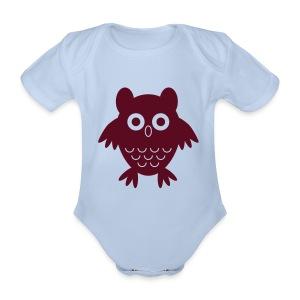 My friend the owl - Organic Short-sleeved Baby Bodysuit