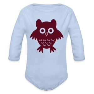 My friend the owl - Organic Longsleeve Baby Bodysuit