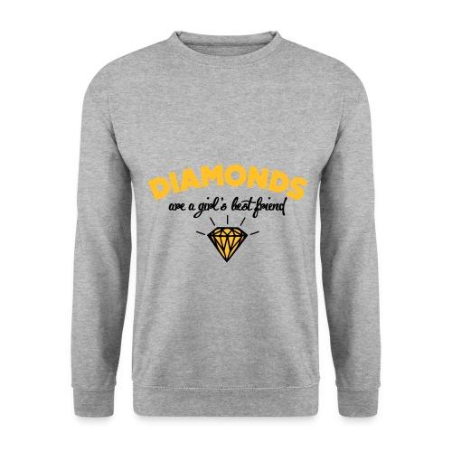 Sweat gris Diamond. - Sweat-shirt Homme