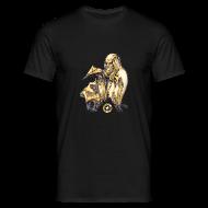 T-Shirts ~ Men's T-Shirt ~ Mens Leonardo paper plane Black T Shirt
