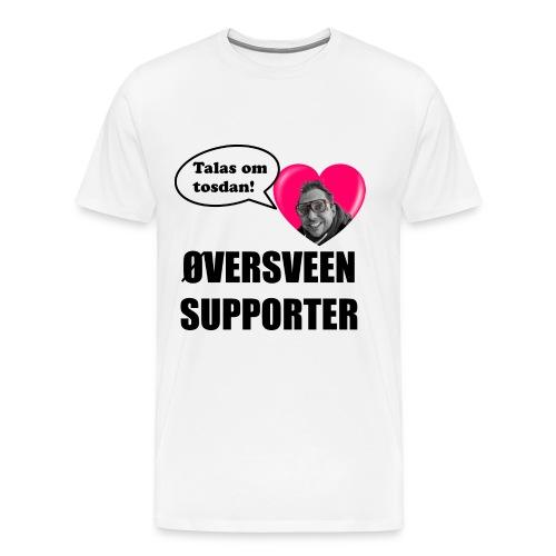 Øversveen Sign. (svart skrift) - Premium T-skjorte for menn