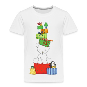 Christmas bear with penguin - Kinder Premium T-Shirt