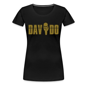 Davido Girly Shirt (Logo Gold Metallic) - Frauen Premium T-Shirt