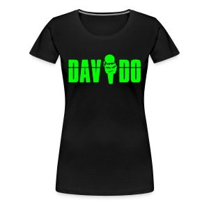 Davido Girly Shirt (Logo Neon Green) - Frauen Premium T-Shirt