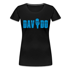 Davido Girly Shirt (Logo Light Blue) - Frauen Premium T-Shirt