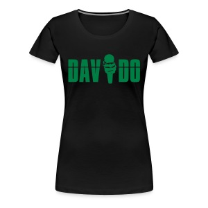 Davido Girly Shirt (Logo Green) - Frauen Premium T-Shirt