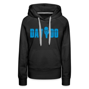 Davido Girly Hoody (Logo Light Blue) - Frauen Premium Hoodie