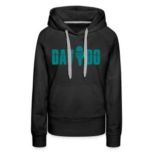 Davido Girly Hoody (Logo Emerald Green) - Frauen Premium Hoodie