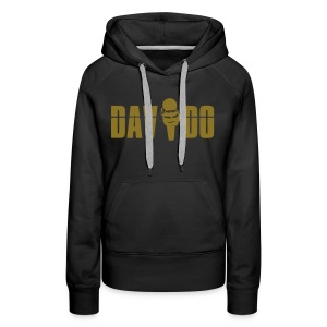 Davido Girly Hoody (Logo Gold Metallic) - Frauen Premium Hoodie