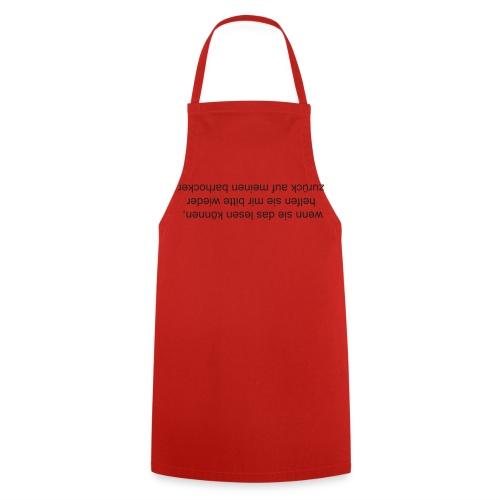Zurück auf den Barhocker - Kochschürze