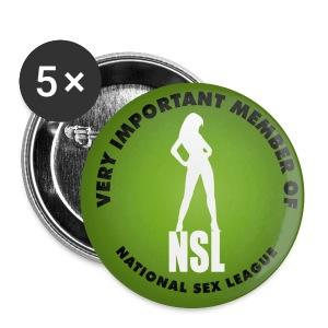 The national sex leageu button - Buttons groot 56 mm