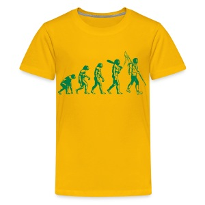 Evolution Jugendliche grün - Teenager Premium T-Shirt