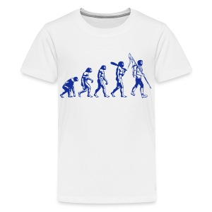 Evolution Jugendliche dunkelblau - Teenager Premium T-Shirt