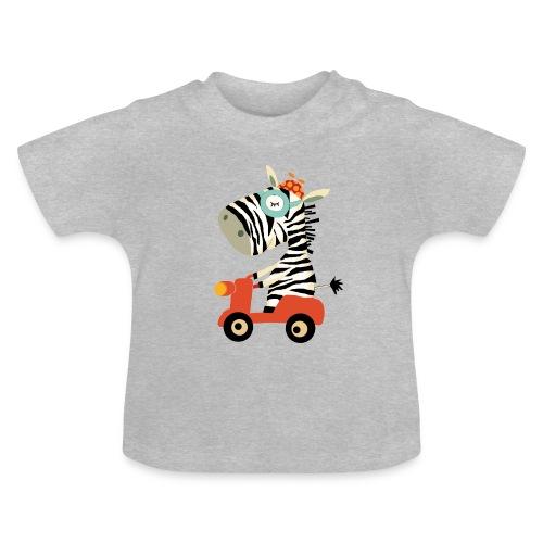 Zebra rollt auf dem Babyshirt - Baby T-Shirt
