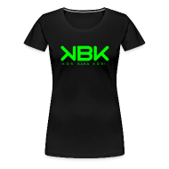 T-shirts ~ Premium-T-shirt dam ~ KBK Neongrön