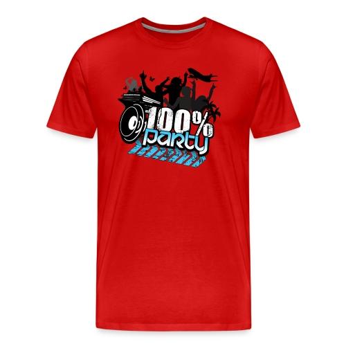 100% PARTY (Nyhet) - Premium-T-shirt herr