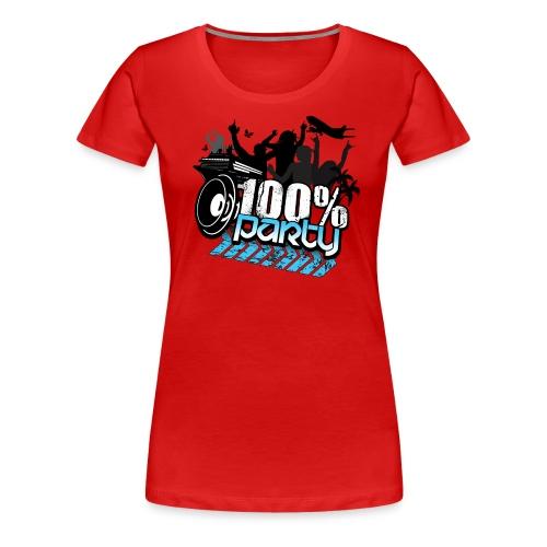 100% PARTY (Nyhet) - Premium-T-shirt dam