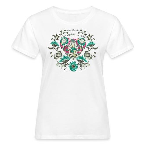 Mit Stolz Soldatenmutti Bioshirt - Frauen Bio-T-Shirt