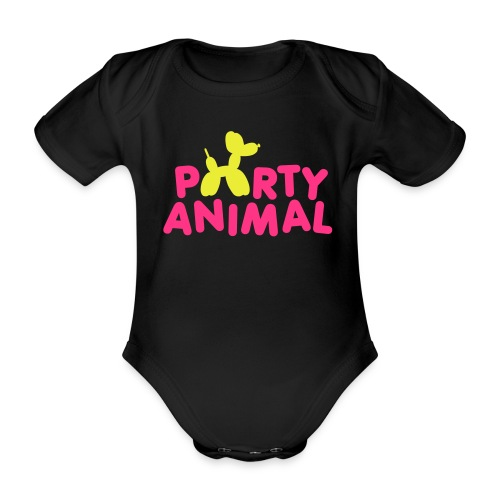 Party animal One-piece - Organic Short-sleeved Baby Bodysuit