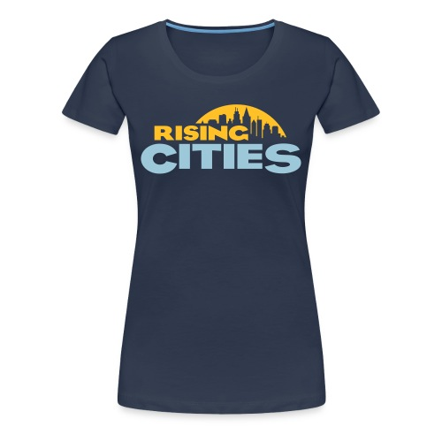 Rising Cities Logo Girl - Frauen Premium T-Shirt