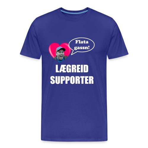 Lægreid Sign. (Kvit skrift) - Premium T-skjorte for menn