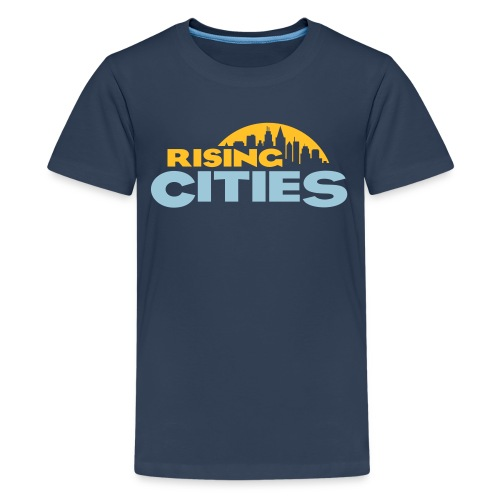 Rising Cities Logo for Teens - Teenager Premium T-Shirt