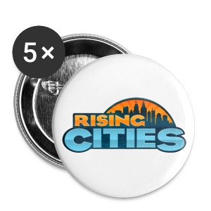 Rising Cities Logo Buttons - Buttons mittel 32 mm