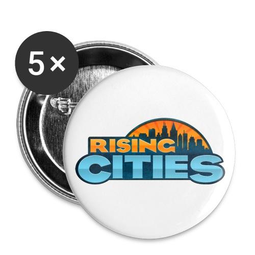 Rising Cities Logo Buttons - Buttons mittel 32 mm (5er Pack)