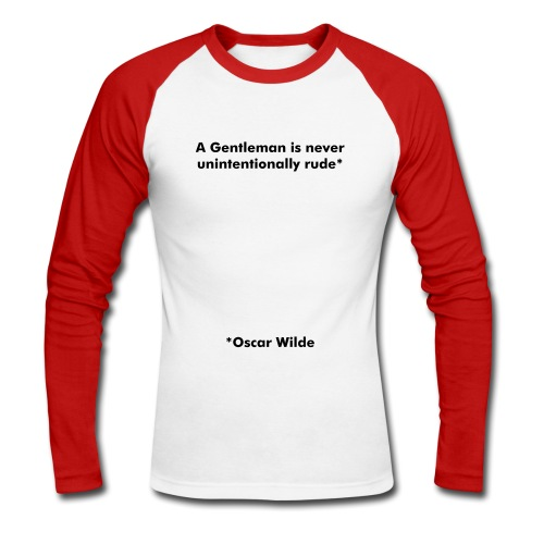 Unintentionally Rude - Men's Long Sleeve Baseball T-Shirt