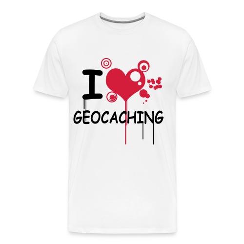 I love geocaching shirt  - Mannen Premium T-shirt