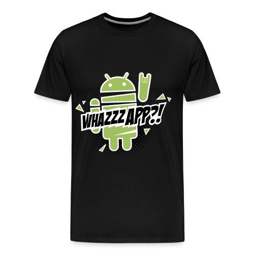 T-Shirt whazzzapp  / Noir - T-shirt Premium Homme