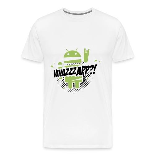 T-Shirt whazzzapp / Blanc - T-shirt Premium Homme
