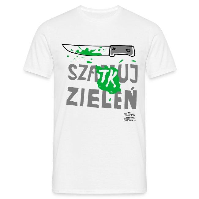 Szatkuj zieleń na prostej koszulce
