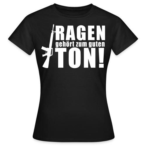 Rage girl schwarz - Frauen T-Shirt