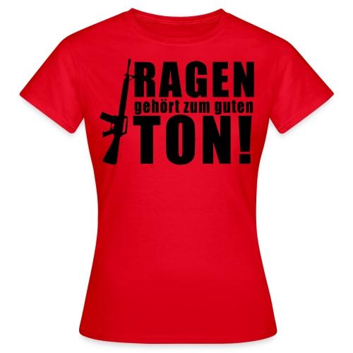 Rage girl rot - Frauen T-Shirt