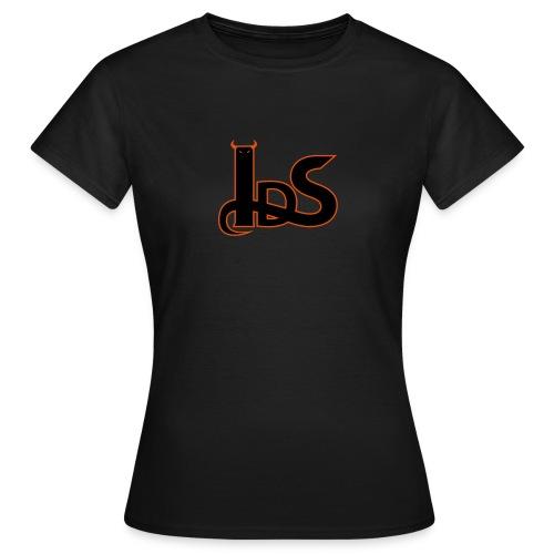 Teeshirt femme IDS noir  - motifs noirs et oranges - T-shirt Femme