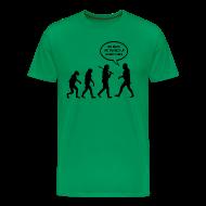 T-Shirts ~ Men's Premium T-Shirt ~ Go Back Evolution T-Shirt