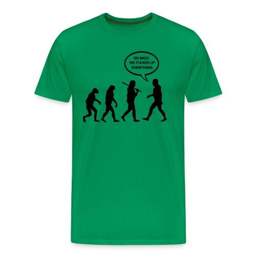 Go Back Evolution T-Shirt - Men's Premium T-Shirt